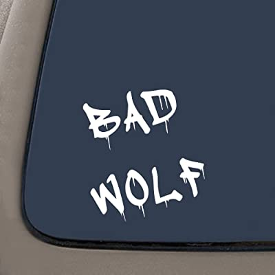 "NI182 Dr Who Inspired Bad Wolf Vinyl Car Decal (6"" WHITE): Arts, Crafts & Sewing"