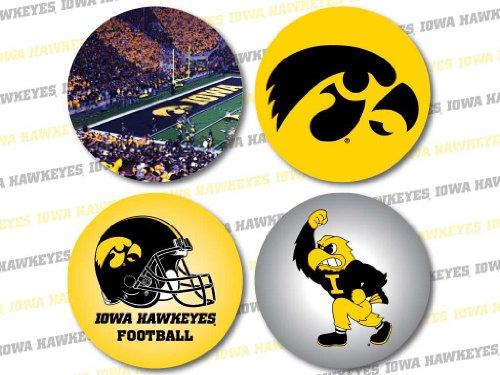 VictoryStore Coasters - University of Iowa Neoprene Hawkeye Fan Coaster Set#1, Set of 4