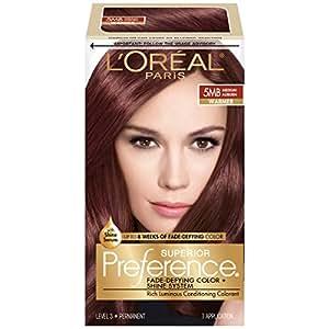 L'Oréal Paris Superior Preference Permanent Hair Color, 5MB Medium Auburn