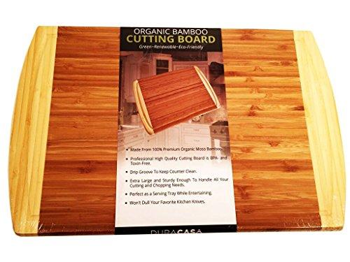 Monogram Large Platter (Duracasa Bamboo Cutting Board | Large 18