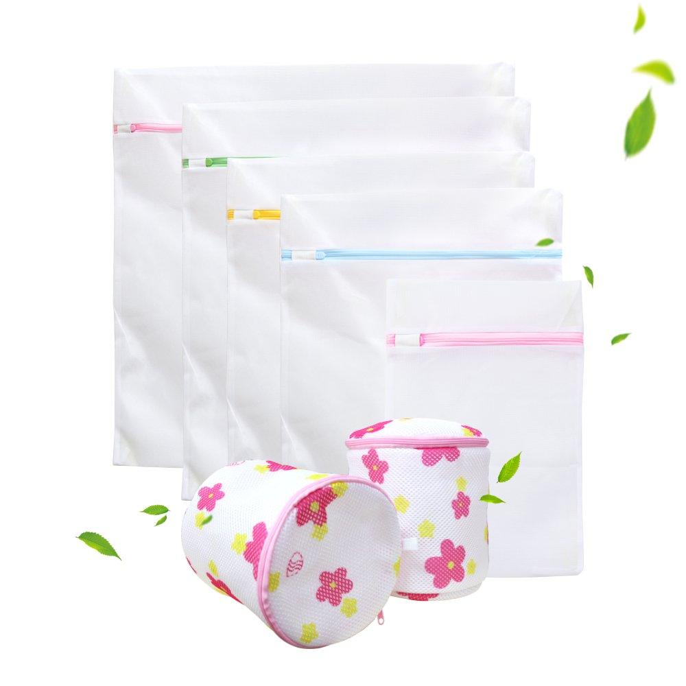 7 Stück Wäschenetz, PALADY Wäschesack Wäschetasche Set Waschbeutel für empfindliches, Bluse, Strumpfwaren, BH, Unterwäsche, Socken (feinmaschig & grobmaschig) mit Reißverschluss 7 Stück Wäschenetz Unterwäsche