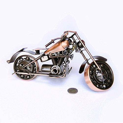 Trebisky Collectible Art Sculpture Die Cast Harley Davidson Scrap Metal Motorcycle (Copper Sportster)