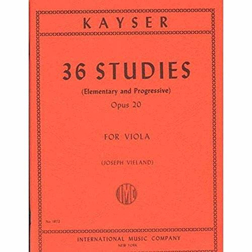 Kayser Heinrich Ernst 36 Elementary Progressive Studies Op 20 Viola by Joseph Vieland International