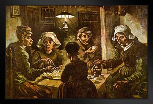 (Vincent Van Gogh The Potato Eaters Framed Poster 20x14 inch)