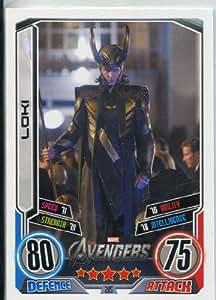 Marvel Hero Attax Series 2 Ultra Rare Avengers Movie Card #215 Loki [Toy]