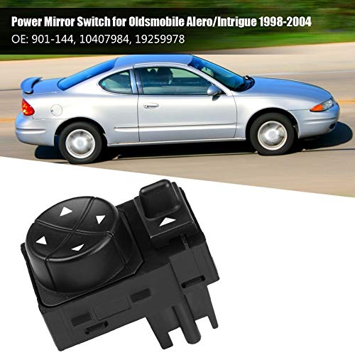 Fincos Front Left Power Side View Mirror Switch for Oldsmobile Alero/Intrigue 1998 1999 2000 2001 2002 2003 2004 10407984 19259978