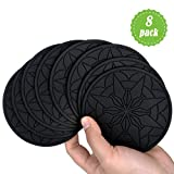 Drink Coasters,365Park Premium Silicone Beverage Coasters Set(8pc) for Drinks Absorbent Glasses