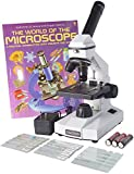 OM116L-XSP1 - 40x-400x - Monocular - Portable Grade School Compound Microscope - Illustrated Experiment Book