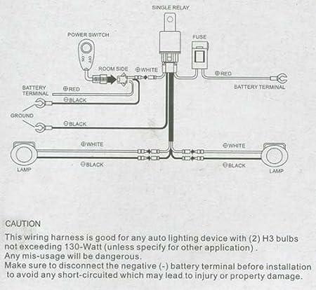 amazon com universal fog light wiring kit for h3 type bulbs amazon com universal fog light wiring kit for h3 type bulbs automotive