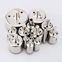 15 pcs 6-50mm Diamond Coated Tool Drill Bits Hole Saw Marble Glass Tile Ceramic