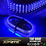 Xprite 240 LED Law Enforcement Emergency Hazard Warning Top Roof LED Mini Bar Strobe Light with Magnetic Base (Blue)