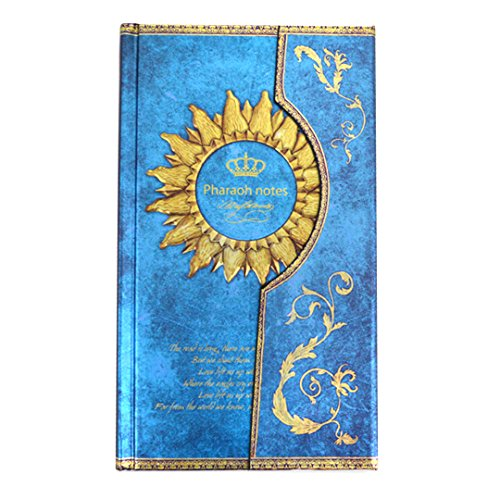 Felice European Retro Hradcover Notebook Magic Pharaoh Dairy for Christmas Journal Travel Book (blue) by Felice