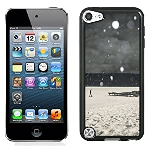 Lovely and Durable Cell Phone Case Design with Lonely Walk In Snow iOS7 iPod Touch 5 Wallpaper Kimberly Kurzendoerfer