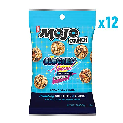 CLIF Mojo Crunch Clusters – Sweet and Salty Snack – Fingerpickin' Barbeque – (1.06 Ounce Pouch, 12 Count)