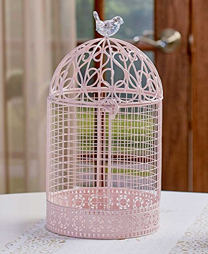 Cage Scrollwork (Oversized Vintage Jeweled Cage, Pink)