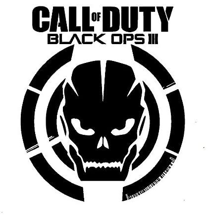 Call Of Duty Black Ops 3 Skull BLACK VINYL Car Decal Art Wall Sticker USA