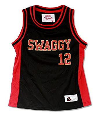 "Youth Justin Bieber ""Miami Heat"" Black and Red Basketball Jersey"