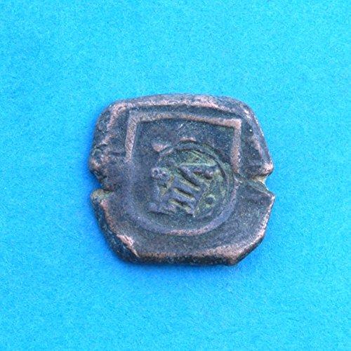 ES Spanish Castle & Lion Colonial Caribbean Pirate Era 4 & 8 Maravedis Cob #2 Coin Very Good Details - Silver Lion Coins