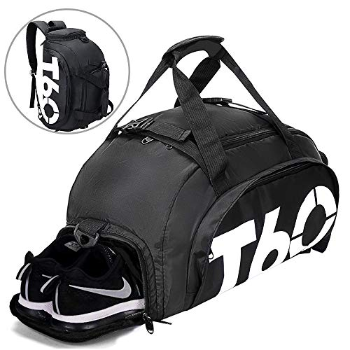 Gym Bag Small Travel Duffle Bag Backpack with Shoe Compartme