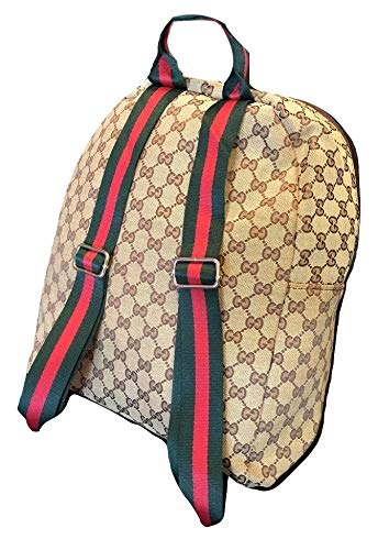 - New Gucci Canvas Backpack with Signature Web Straps