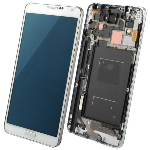 CAIFENG Repair Replacement Parts New LCD Display + Touch Panel with Frame for Galaxy Note III / N9006(Black) Phone Touch Screen (Color : White)