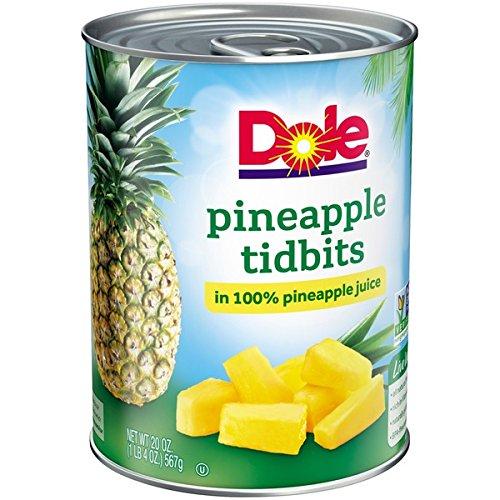 Dole Pineapple Tidbits in 100% Pineapple Juice 20 oz. (Pack of 3)