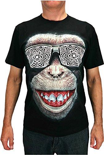 (Rock Chang Cool Monkey 3D T-Shirt Sz s m l XL 3d47 (M))