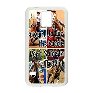 Canting_Good Racing Cowgirl Custom Case Shell Skin for Samsung Galaxy S5 (Laser Technology)