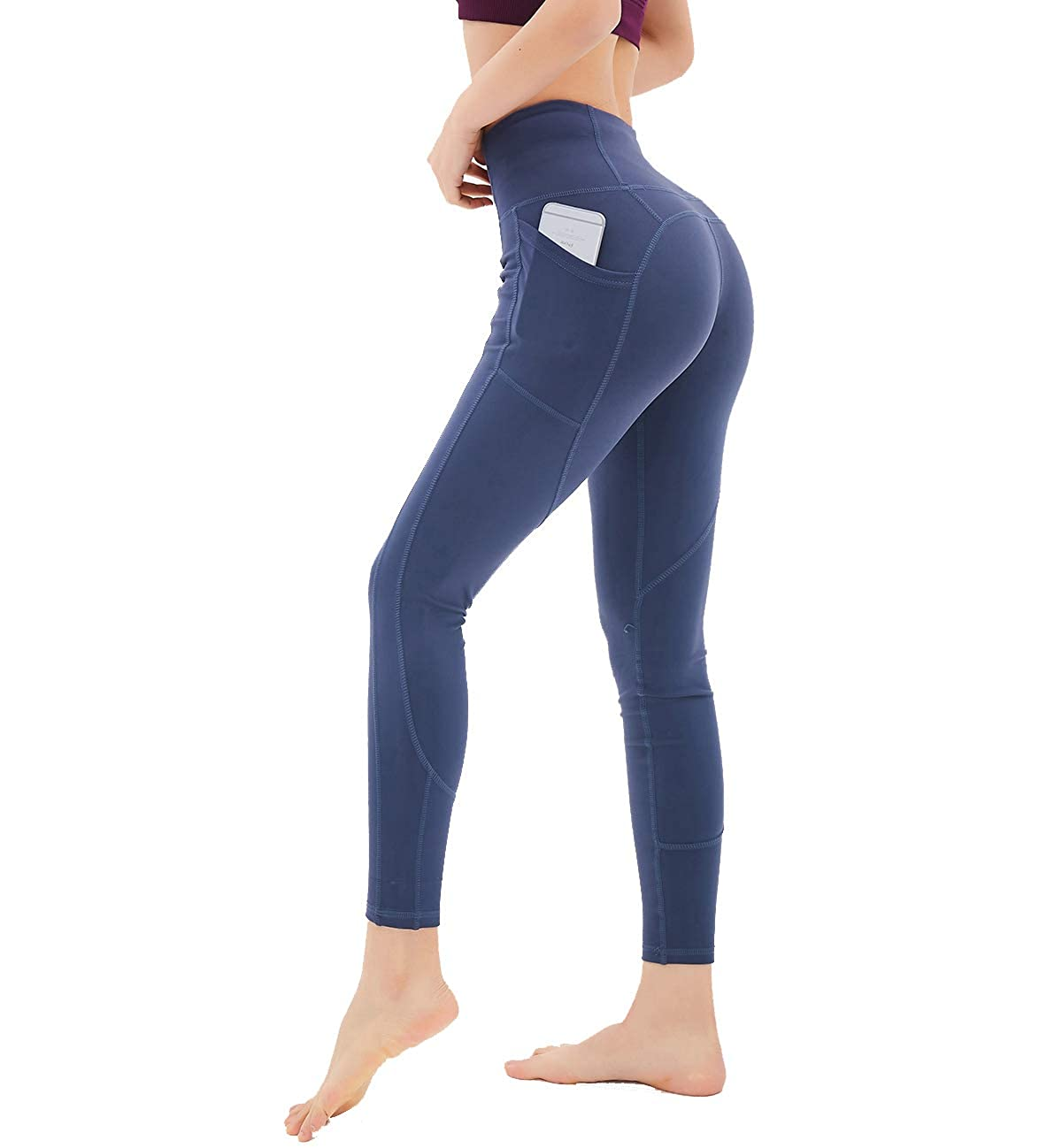 Dutte Dutta Women Yoga Pants with Pockets High Waist Tummy Control Workout Leggings