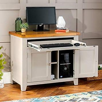 Grey Painted Hideaway Computer Desk