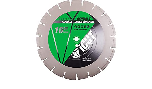 10 Inch Asphalt and Green Concrete Premium Diamond Blade for ...