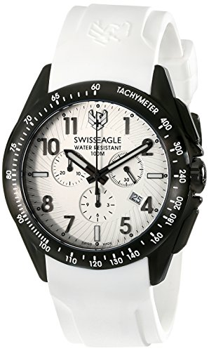 Swiss Eagle Men's SE-9061-02 Tactical Analog Display Swiss Quartz White Watch
