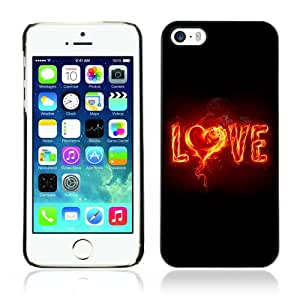 CaseCaptain Carcasa Funda Case - Apple iPhone 5 / 5S / LOVE & Fire /