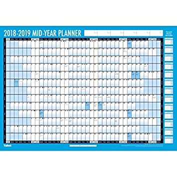 2018 2019 Academic Year Wall Planner Unmounted A2 Compact Size Amazoncouk Office Products