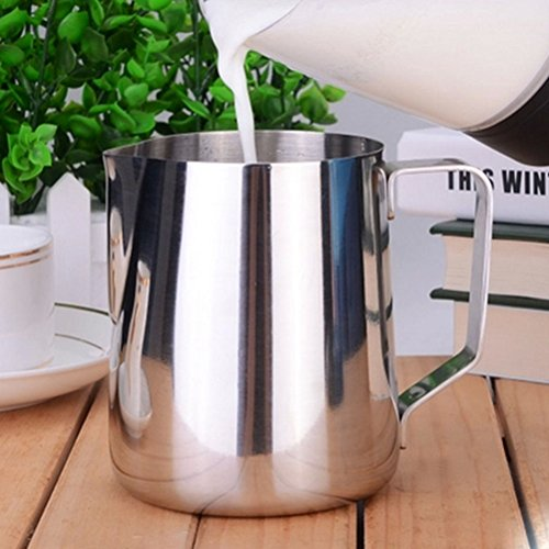 photo Wallpaper of PIXNOR-Pixnor 350ml Stainless Steel Milk Pour Pot Cup Mug-As Shown