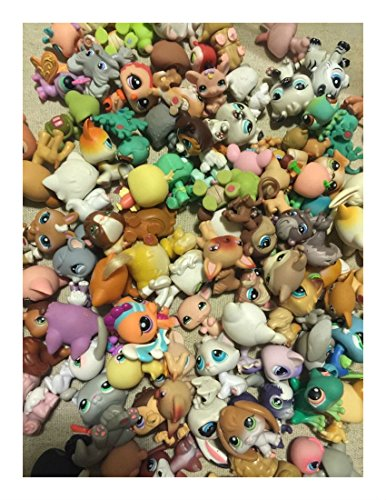 Littlest Pet Shop random Lot of 5 pets LPS mouse Dog Cat Horse MINIFIGURES from Unbranded