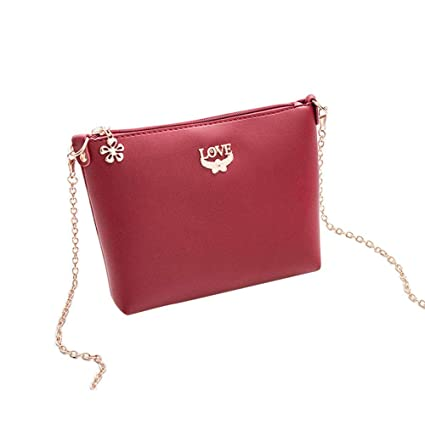 d431975eadf0 Image Unavailable. Image not available for. Color  iShine Women s PU  Leather Vintage Hollow Bag Korean ...