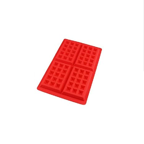 Brave Tour seguro silicona molde DIY Craft Mold Baking Tools (red-rectangle)