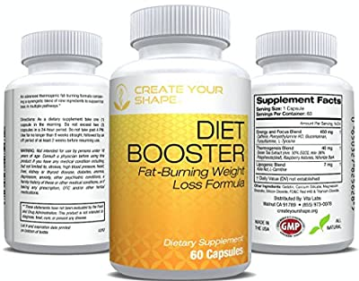 Diet Pills Diet Booster - Powerful Fat Burner & Appetite Suppressant – Thermogenic Metabolizer Diet Pills, Highest Rated Pharmaceutical Grade – Diet Pill System For Fast Weight Loss 60 Capsules