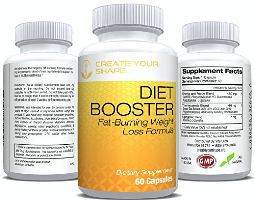Diet Booster Thermogenic Fat Burner – Diet Pill System – Weight Loss Supplement & Appetite Suppressant – Energy Booster – Highest Rated Pharmaceutical Grade – FAST Weight Loss