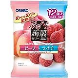 オリヒロ ぷるんと蒟蒻ゼリー パウチ ピーチ+ライチ (20g×12個入)