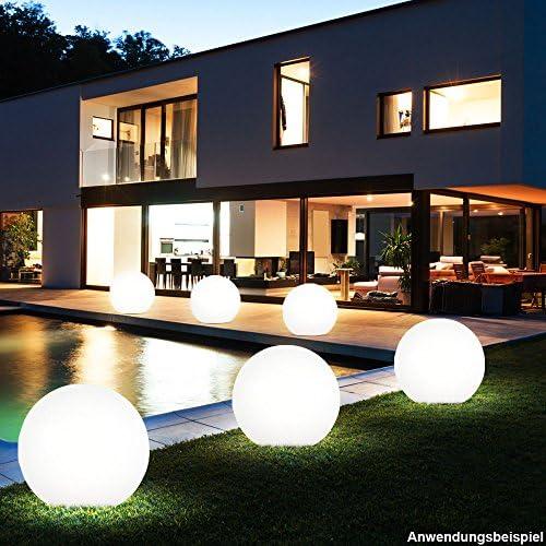 3er Set LED Außen Steck Leuchten Solar Kugel Lampen weiß Erdspieß Garten Deko Beleuchtung Akku IP44