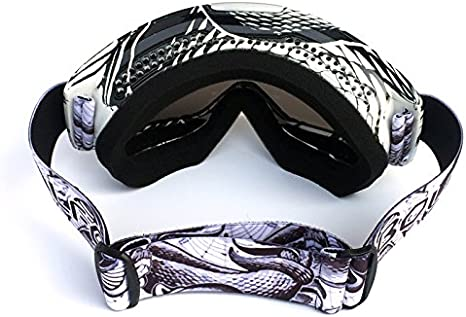 HCMAX Motorcycle Goggles Motocross Glasses For Helmet Fog-proof Windproof Riding Bike UV Protection Sunglasses Mask for ATV Off Road Racing Motorbike Ski Snowboard Goggles