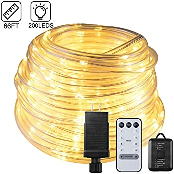 Amazon Com Inhdbox 66ft 200led Dimmable Rope Lights Ul