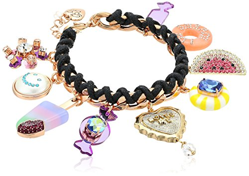 Betsey Johnson Multi-Candy Charm Bracelet ()