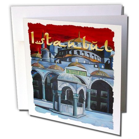 - 3dRose Istanbul Sultan Ahmed Mosque - Greeting Cards, 6 x 6 inches, set of 6 (gc_28172_1)