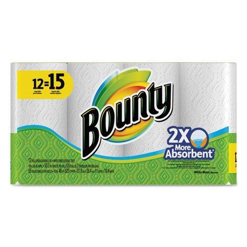 Tide 88197 Regular Roll Paper Towels, 11 x 11, White, 55 Sheets/Roll, 12 Roll/Pack -
