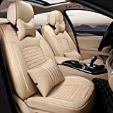 HOMEE@ Ice Silk 3D Car Four Seasons Cushion Universal Car Seat Cover , Beige,beige