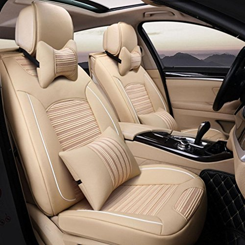 HOMEE@ Ice Silk 3D Car Four Seasons Cushion Universal Car Seat Cover , Beige,beige by HOMEE@