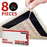 Rug Grippers by LEALSO Gripper - 8 pcs Black Anti